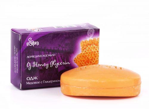 Мыло аюрведическое Одж Мед с Глицерином | 100 г | Oj Honey Glycerin Soap