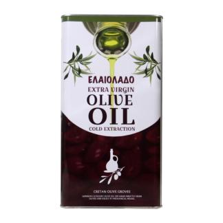 Масло оливковое Extra Vergine нерафинированное в ж.б. 5 лит. Греция