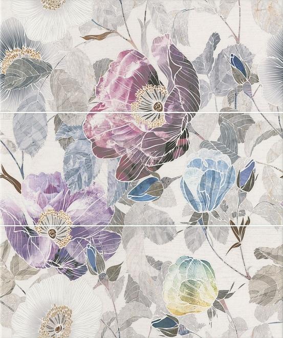 ALD/A36/3x/7071T | Панно Линьяно Цветы