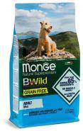 Monge Dog BWild GRAIN FREE Mini Беззерновой корм из анчоуса с картофелем и горохом для взрослых собак мелких пород (2,5кг)