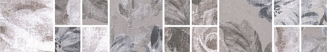 181/8266 | Бордюр Александрия серый мозаичный