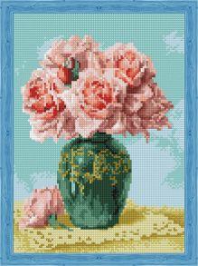 Алмазная мозаика «Восточные розы» 30x40 см