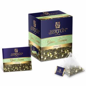 Чай Berton пакетированный в шелковых пирамидках Зеленый с Жасмином 20 пак./1уп