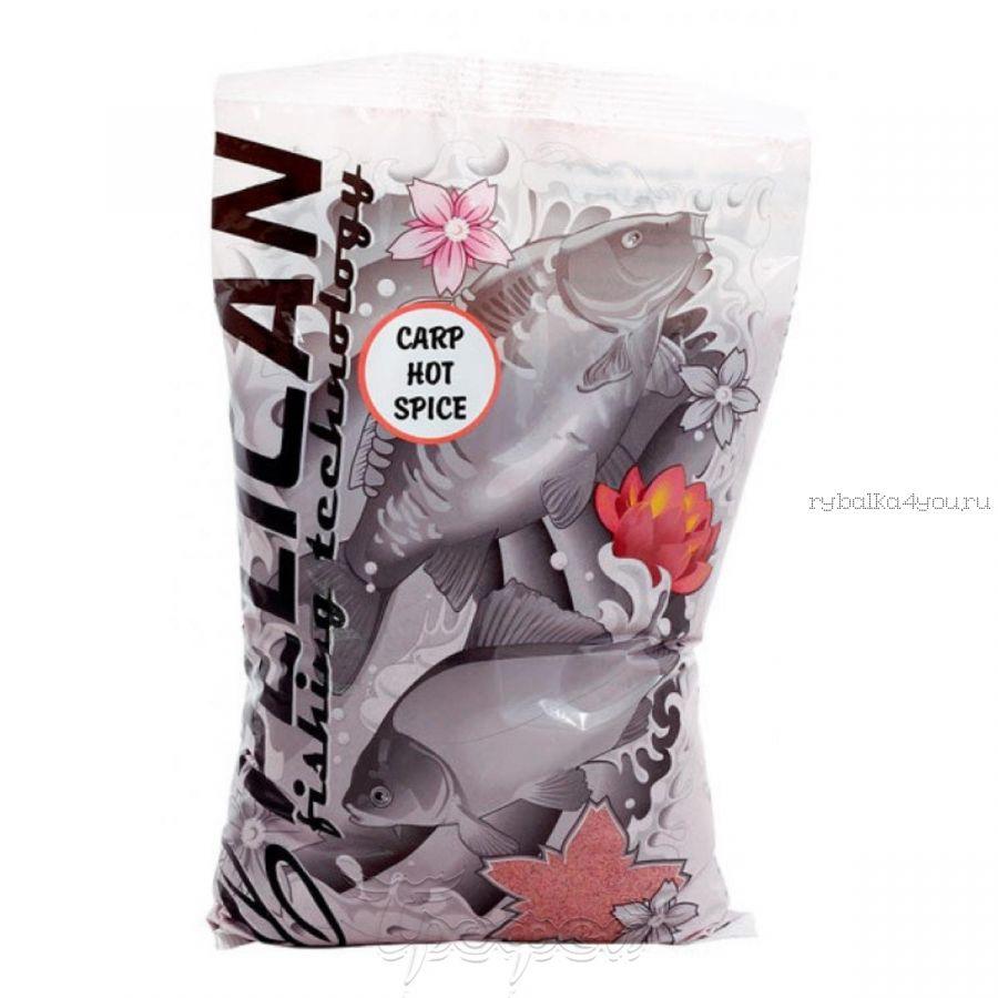 Прикормка Pelican Карп / Острые специи  /  1 кг