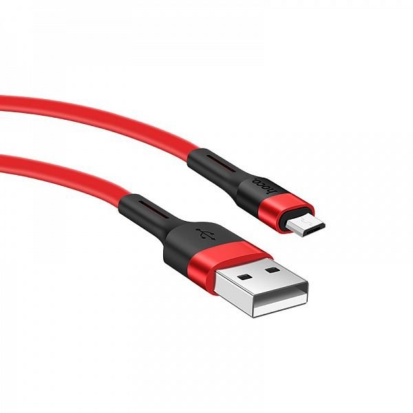 Кабель USB 2.4А HOCO X34 Красный (microUSB) 1м