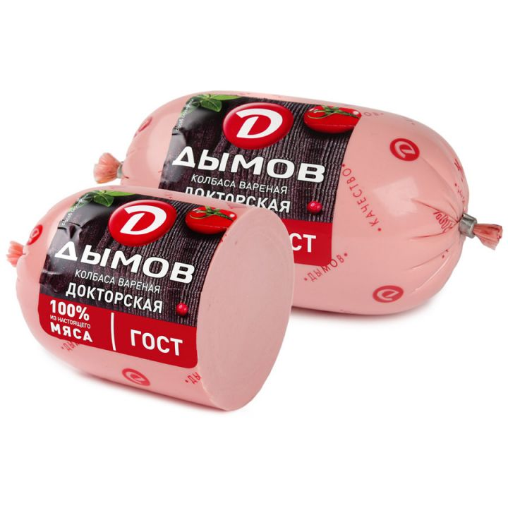 Колбаса Докторская ГОСТ п/а 450г Дымов
