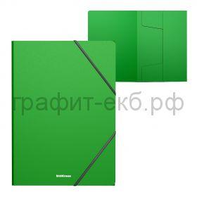 Папка А4 на резинках ErichKrause Matt Classic зеленая 53323