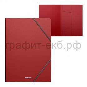 Папка А4 на резинках ErichKrause Classic красная 47192