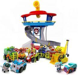 Офис Спасателей + полный комплект из 9 спасателей Джунгли на машинках (Щенячий патруль)