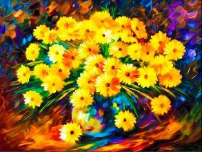 Алмазная мозаика «Букет осенних хризантем» 40x50 см