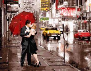 Алмазная мозаика «Вдвоем в Нью-Йорке» 40x50 см