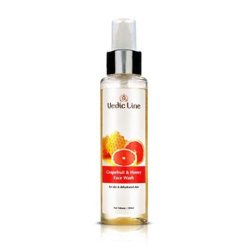 Гель для умывания Грейпфрут и Мёд | Grapefruit & Honey Face Wash | 100 мл | Vedic Line