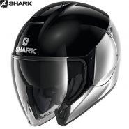 Мотошлем Shark CityCruiser Dual, Черно-серебряный
