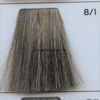 Крем краска для волос 8/1 Светло русый пепельный 100 мл.  Galacticos Professional Metropolis Color