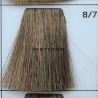 Крем краска для волос 8/7 Светло русый коричневый 100 мл.  Galacticos Professional Metropolis Color