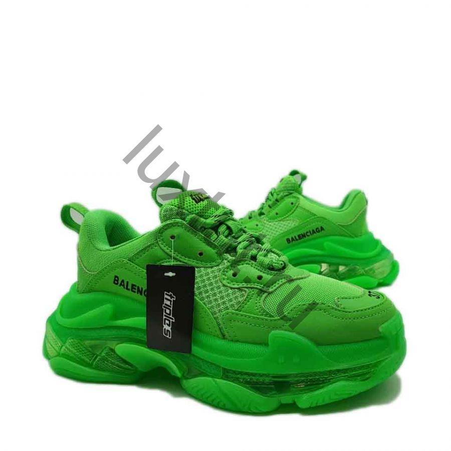 Кроссовки Balenсiagа Triple s зеленые