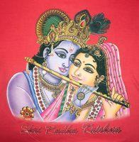 Мужская футболка с изображением Кришны и Радхи, купить в интернет магазине