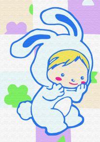 Раскраска по номерам «Зайка-малыш» 10x15 см