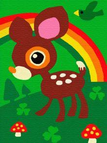 Раскраска по номерам «Оленёнок» 10x15 см