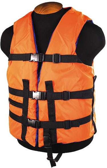 """Жилет страховочный """"Лоцман"""" SM-021 до 150кг, размер (54-64) оранжевый"""