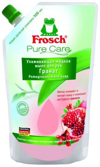 Frosch Ухаживающее мыло для рук Гранат запасная упаковка 0,5 л