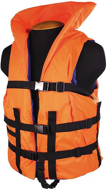 Жилет страховочный с подголовником SM-033 до 150кг, размер (60-64) оранжевый