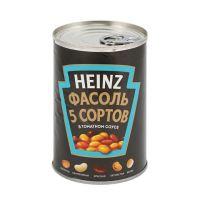 Фасоль консервированная HEINZ 5 сортов, 415 г