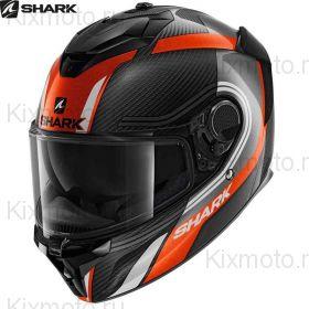Мотошлем  Shark Spartan GT Carbon Tracker, Черно-оранжево-белый