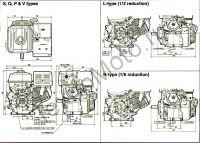 Двигатель Erma Power GX390 D25(13 л. с.) присоединительные размеры
