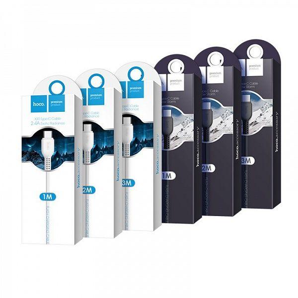 Кабель USB 2А HOCO X20 Белый (TYPE C) 2м