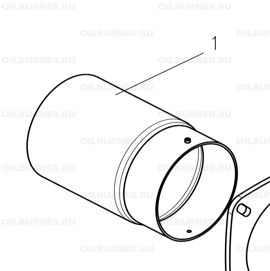 Горелочная труба GU200 арт. 47-90-27625