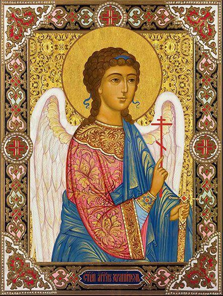 Икона Ангел-хранитель с крестом и мечом