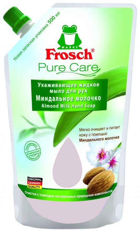 Frosch Ухаживающее мыло для рук Миндальное молочко запасной блок 0,5 л