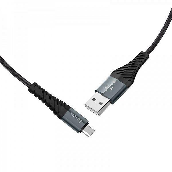 Кабель USB 2.4А HOCO X38 Черный (microUSB) 1м