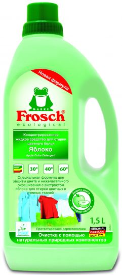 Frosch Концентрированное жидкое средство для стирки цветного белья 1,5 л