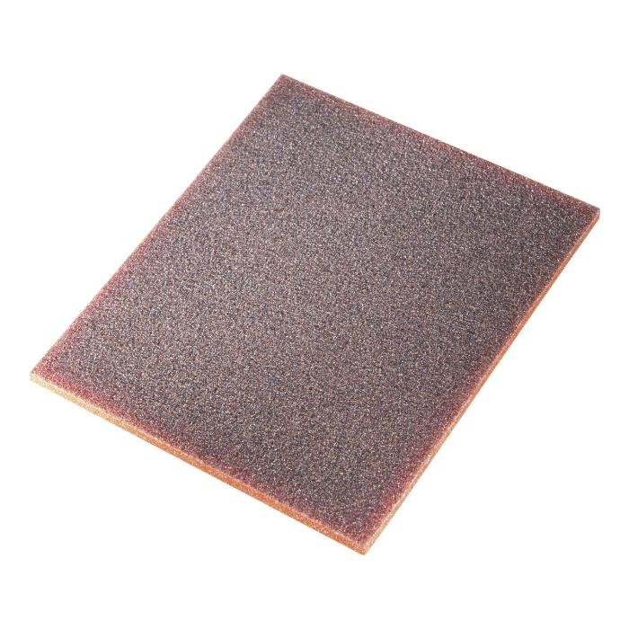 Sia 7972 Siasponge Односторонние цветные губки, 115мм. x 140мм. x 5мм., P60 #280 MEDIUM, оранжевая
