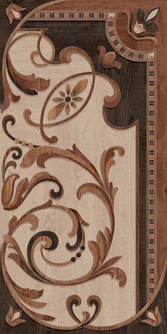 DD570700R | Гранд Вуд декорированный левый обрезной