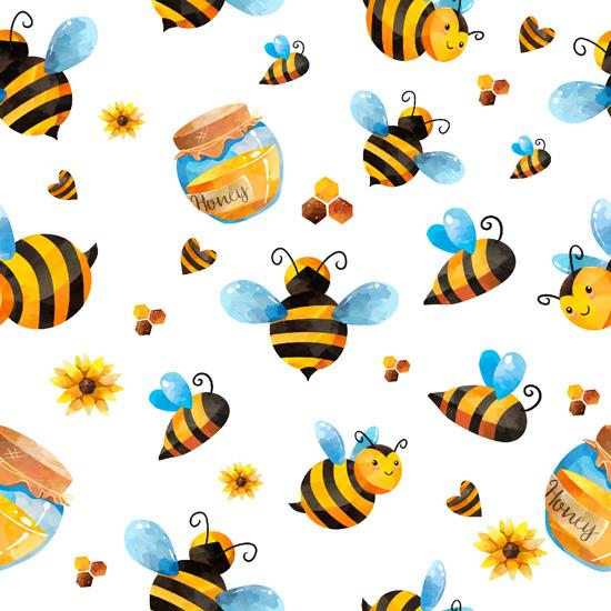 Хлопок Перкаль Медовые пчёлки 50х37