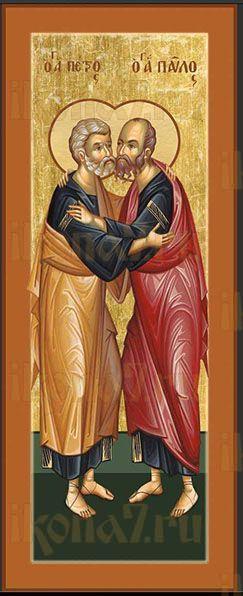 Икона апостолы Пётр и Павел (мерная)
