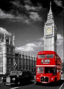 Алмазная мозаика «Символы Лондона» 30x40 см
