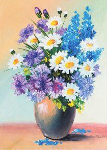 Алмазная мозаика «Полевой букет цветов» 30x40 см