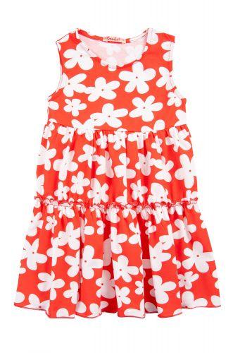 """Платье на девочек 2-5 лет Bonito kids """"flowers"""" красное"""
