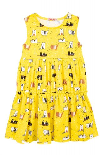 "Платье на девочек 2-5 лет Bonito kids ""Cats"" желтое"