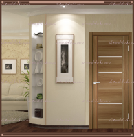 Межкомнатная дверь PREMIER 1  Орех Золотой, стекло - Мателюкс :