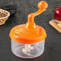Механический измельчитель Apple King 3 ножа (цвет оранжевый)_2