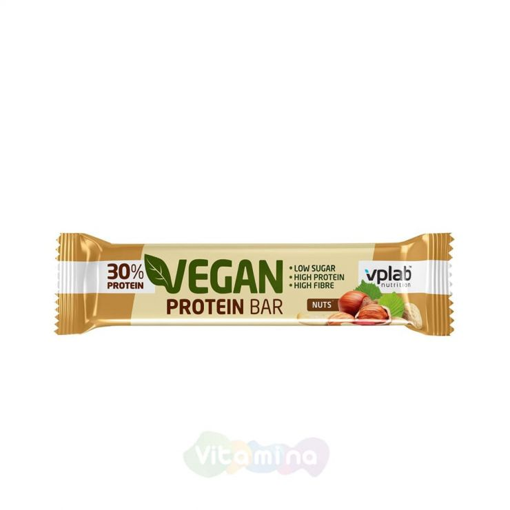 VPLab Веганский батончик Vegan Protein Bar, 60 гр