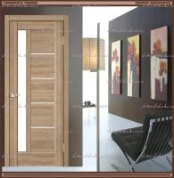 Межкомнатная дверь PREMIER 3  Дуб европейский, стекло - ЛАКОБЕЛЬ Белое :