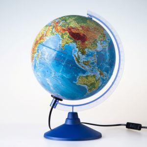 Глoбус физический «Классик Евро», диаметр 250 мм, с подсветкой