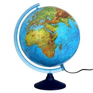 Интерактивный глобус физико-политический, диаметр 320 мм, с подсветкой