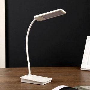 "Лампа настольная ""Санета"" 3 режима 8Вт USB(не в комплекте)  белый 12,5х8х44 см.   4449398"